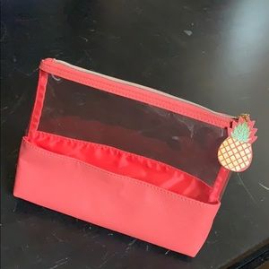 Pineapple makeup pouch